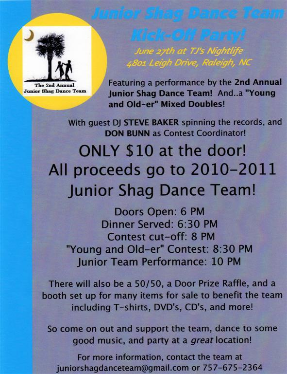 Junior Shag Dance Team Kick Off Party